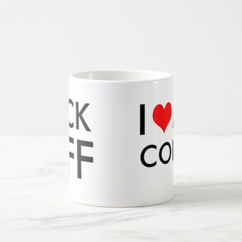 F Heart CK Off Customizable Coffee Mug