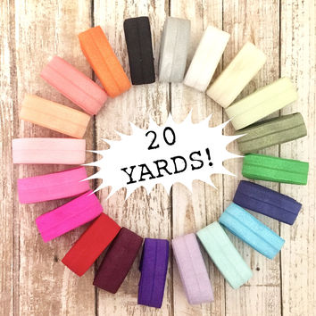 20 Yards | 1 yard of each color shown.