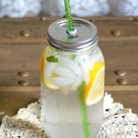 Large Mason Jar Tumbler - Go Green