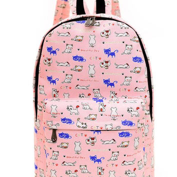 Canvas Backpack for Women, Teens and Kids B002