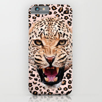 Albino leopard iPhone 4 4s 5 5c 6, pillow case, mugs and tshirt iPhone & iPod Case by Three Second