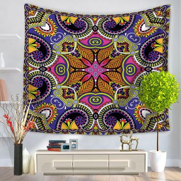 CAMMITEVER Hippie Tapestry, Hippy Mandala Bohemian Tapestries, Indian Dorm Decor, Psychedelic Tapestry Wall Hanging Ethnic Decor