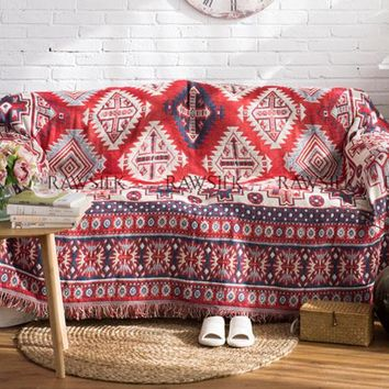 Turkish Kilim Bedspread Tapestry + Rug