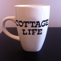 Cottage life coffeee mug from Canvas and Paper Pieces