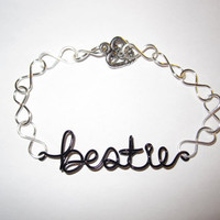 Bestie Infinity Bracelet Friendship Best Friend by aLilJazzJewelry