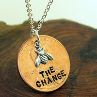 Be The Change, Bee The Change, Penny Necklace