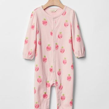 Organic fruit footed one-piece