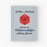 'Every DM needs a notebook' Hardcover Journal by Blacksun123