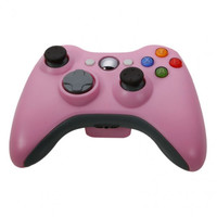 New Wireless Cordless Shock Game Joypad Controller For xBox 360 - Pink