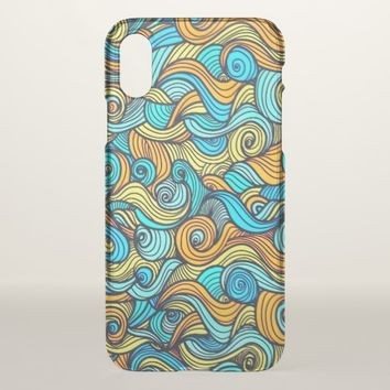 Extra Wavy iPhone X Case