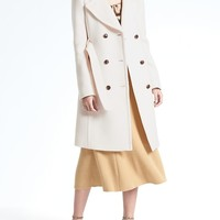 Italian Melton Wool-Blend Long Coat|banana-republic