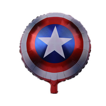 Avengers Alliance Foil Balloons Birthday Wedding Party Decorations Captain America shield Balloon Classic hero theme globos