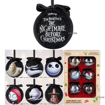 Licensed cool 2016 The Nightmare Before Christmas Sketchbook Ornament 6 Set Disney Store Boxed