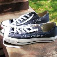 Personalized gift, personalized gift shoes, CONVERSE, hand embroidered, custom wedding