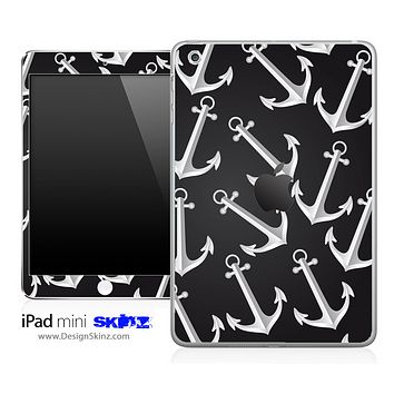 Black & White Anchor iPad Skin
