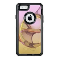 Abstract Motions, Modern Light Pink Yellow Fractal OtterBox Defender iPhone Case