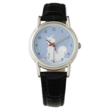 Arctic Fox Wrist Watch