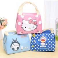 Xingkings Hello kitty Bag Thermal Picnic Cooler Insulated Portable Lunch Box Travel Kids XK-L335