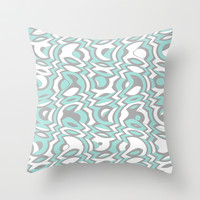 Minty Tumble Throw Pillow by Beth Thompson