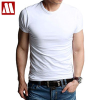 Men's t-shirts stretch cotton Tees Man causal T shirt Male clothing causal undershirts O-neck active shorts tshirts Promotion