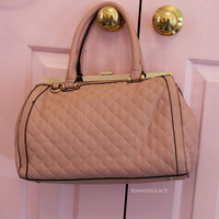 Fashion Week Pink Quilted Purse