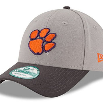 """Clemson Tigers New Era NCAA 9Forty """"The League"""" Adjustable Hat - Gray"""