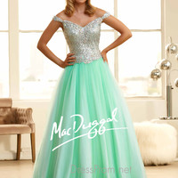 Off The Shoulder Sweetheart Prom Ball Gown By Mac Duggal 65088H