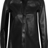 Saint Laurent - Glossed-leather shirt