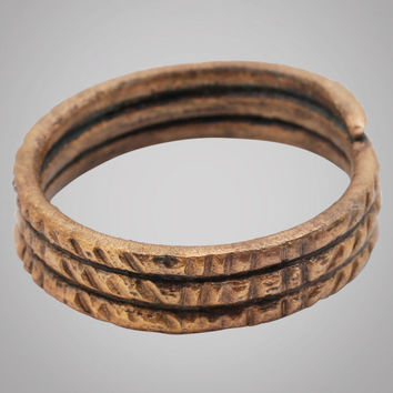 Fantastic Ancient Viking Warriors Coil Ring C.866-1067A.D. Size 10 1/2 20mm (BRR710) Antique Vintage