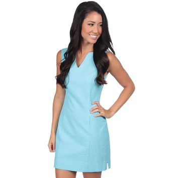 The Avery Solid Seersucker Dress in Powder Blue by Lauren James - FINAL SALE
