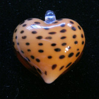 Leopard Glass Heart