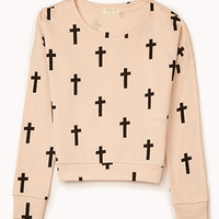 Cross Print Sweatshirt (Kids)