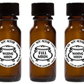 Set of 5 Moon Phases 1 oz My Altar Oil