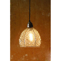 Kalalou NNL1000 Electric Mini Pendant w/ Eight-Inch Diameter Glass shade