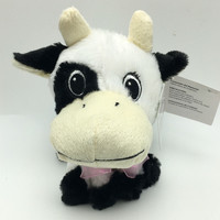 Cow Black White 7 inch Plush Stuffed Animal Toy New