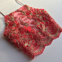 crop top halter red mesh ebroidery sequin rhinestone glittery backless strappy vest dress bra bralette boob tube tee shorts cord