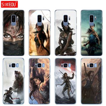 silicone case for Samsung Galaxy S9 S8 S7 S6 edge S5 S4 S3 PLUS phone cover Rise Of The Tomb Raider