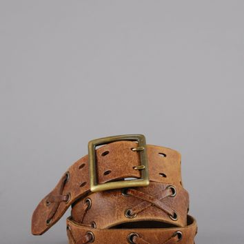 X Marks The Spot Distressed Leather Belt