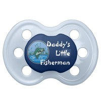 Personalized Babies Fishing Daddy Little Fisherman BooginHead Pacifier