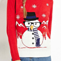 Cupshe Christmas Stereoscopic Snowman Sweater