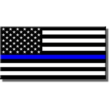 Blue Lives Matter, Thin Blue Line Picture on Stretched Canvas, Wall Art Décor, Ready to Hang