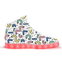 Getting Jiggy - APP Controlled High Top LED Shoes