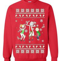 Rick And Morty Ugly Christmas Sweater sweatshirt unisex adults size S-2XL