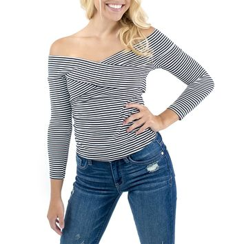 Women's cupcakes and cashmere Lois Striped Top