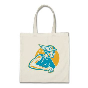 Roman God Mercury Hermes Tote Bag