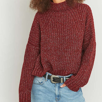 BDG Nep Knitted Turtleneck Jumper - Urban Outfitters