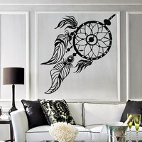 Vinyl Wall Decal Dream Catcher Ethnic Style Dreamcatcher Stickers Unique Gift (649ig)