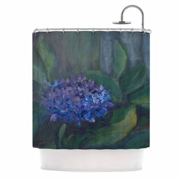 "Cyndi Steen ""Hydrangea"" Floral Green Shower Curtain"