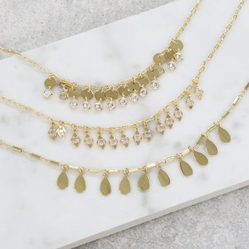 Festival Layers Necklace in Gold