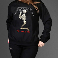 Kanye West Yeezus Sweatshirt Black Unisex Clothing High Quality tee S,M,L and XL (Y3)